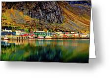Colorful Lofoten, Norway Greeting Card
