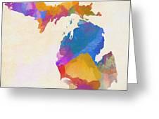 Colorful Michigan Greeting Card