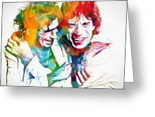 Colorful Mick And Keith Greeting Card