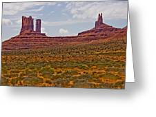 Colorful Monument Valley Greeting Card