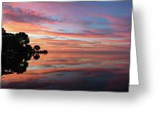 Colorful Morning Mirror - Spectacular Sky Reflections At Dawn Greeting Card