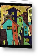 Colorful Neighborhood Greeting Card
