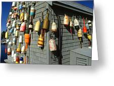 Colorful New England Buoys Greeting Card