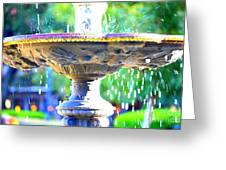 Colorful New Orleans Fountain Greeting Card