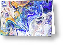 Colorful Night Dreams 5. Abstract Fluid Acrylic Painting Greeting Card