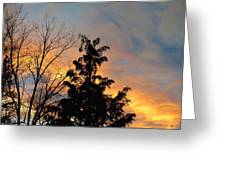 Colorful Nightfall Greeting Card