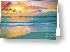 Colorful Ocean Sky Greeting Card
