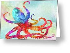 Colorful Octopus Greeting Card