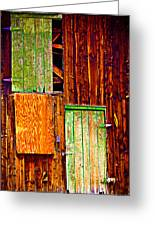Colorful Old Barn Wood Greeting Card