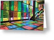 Colorful Palais Des Congres Montreal Canada Greeting Card