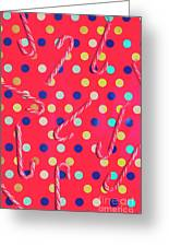 Colorful Pepermint Candy Canes Greeting Card