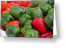 Colorful Peppers Greeting Card