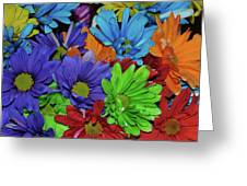 Colorful Petals Greeting Card