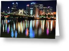 Colorful Pittsburgh Lights Greeting Card
