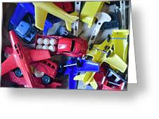 Colorful Plastic Toys #1 Greeting Card