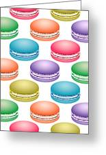 Colorful Pop Art Macarons Greeting Card