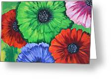 Colorful Poppy Lime Greeting Card