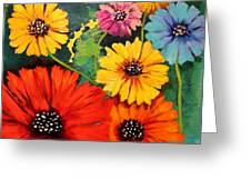Colorful Poppy Warm No.1 Greeting Card