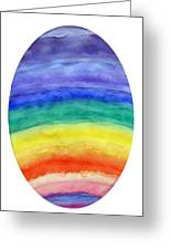 Colorful Rainbow Colored Egg Greeting Card