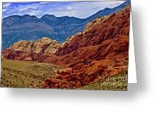 Colorful Red Rock Greeting Card