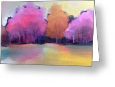 Colorful Reflection Greeting Card by Michelle Abrams