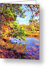 Colorful Reflections Greeting Card by Kristin Elmquist