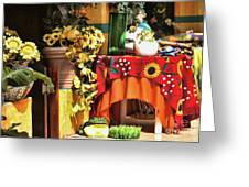 Colorful Restaurant Bucerias Greeting Card