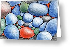 Colorful Rock Abstract Greeting Card