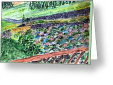 Colorful Rock Garden Greeting Card