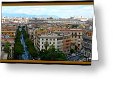 Colorful Rome Cityscape Greeting Card