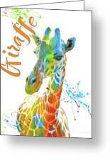 Colorful Safari Animals D Greeting Card
