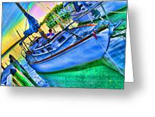 Colorful Sailboat Greeting Card
