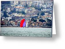 Colorful Sails Greeting Card