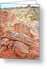 Colorful Sandstone In Wash 3 - Valley Of Fire Greeting Card