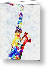 Colorful Saxophone Greeting Card