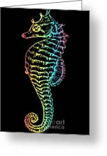 Colorful Seahorse Greeting Card