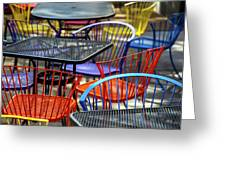 Colorful Seating Greeting Card