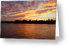Colorful Sky At Sunset Greeting Card