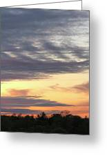 Sherbet Colored Sky Greeting Card