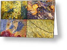 Colorful Slate Tile Abstract Composite Sq1 Greeting Card