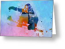 Colorful Snowboarder Paint Splatter Greeting Card