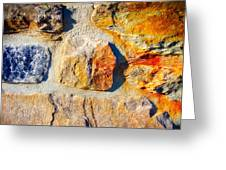 Colorful Stone Greeting Card