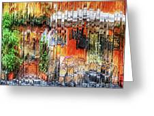 Colorful Street Cafe Greeting Card