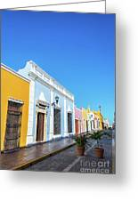 Colorful Street In Campeche, Mexico Greeting Card