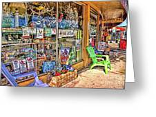 Colorful Streets Of The City Of Stuart Greeting Card