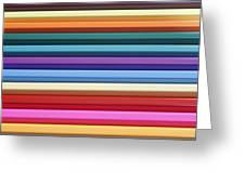 Colorful Stripes 4 Greeting Card