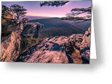 Colorful Sunset At Hanging Rock Greeting Card