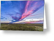 Colorful Sunset At The Reesor Ranch Greeting Card