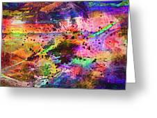Colorful Sunset Debris  Greeting Card