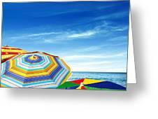 Colorful Sunshades Greeting Card by Carlos Caetano